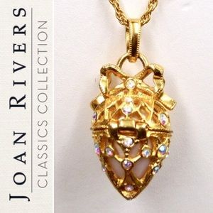 Joan Rivers Faberge Egg Necklace w/ Mini Scroll